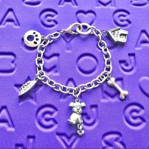 Jewelry - Beautiful Doggy Silver Charm Bracelet